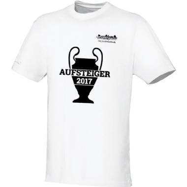 Aufsteiger-Shirts für Kinder, Damen und Herren in weiß