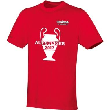 Aufsteiger-Shirts für Kinder, Damen und Herren in rot