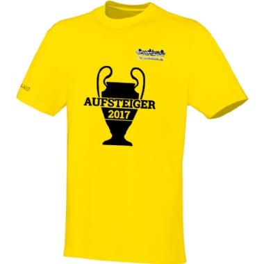 Aufsteiger-Shirts für Kinder, Damen und Herren in gelb