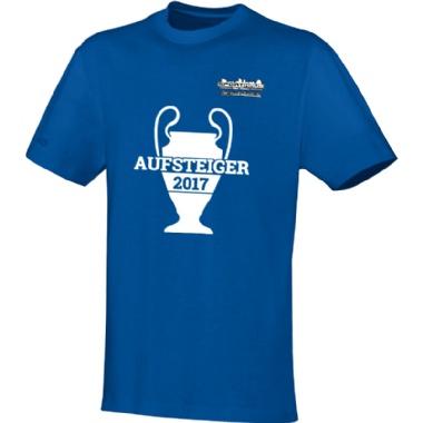 Aufsteiger-Shirts für Kinder, Damen und Herren in blau