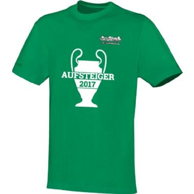 Aufsteiger-Shirts für Kinder, Damen und Herren in grün
