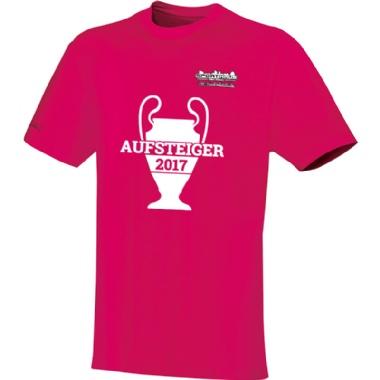 Aufsteiger-Shirts für Kinder, Damen und Herren in pink