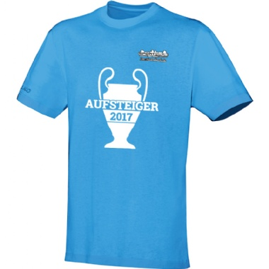 Aufsteiger-Shirts für Kinder, Damen und Herren in hellblau