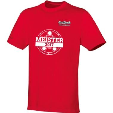 Meister-Shirts für Kinder, Damen und Herren in rot