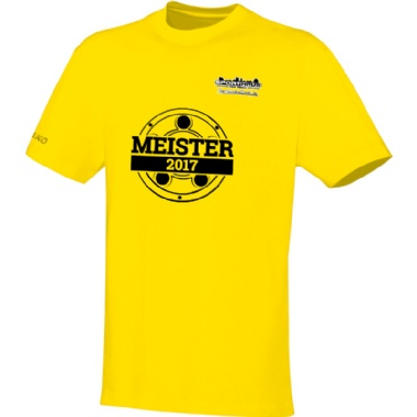 Meister-Shirts für Kinder, Damen und Herren in gelb