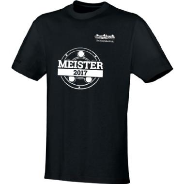 Meister-Shirts für Kinder, Damen und Herren in schwarz