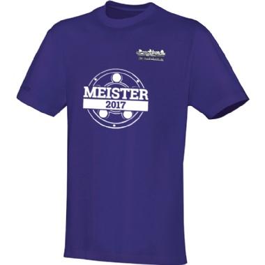 Meister-Shirts für Kinder, Damen und Herren in lila