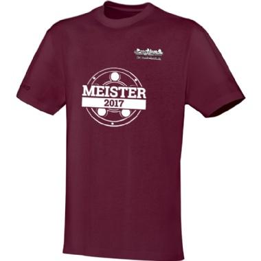 Meister-Shirts für Kinder, Damen und Herren in weinrot