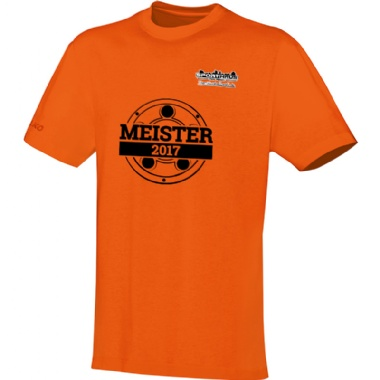 Meister-Shirts für Kinder, Damen und Herren in orange