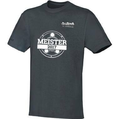 Meister-Shirts für Kinder, Damen und Herren in dunkelgrau