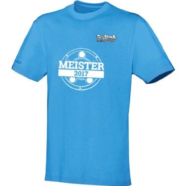 Meister-Shirts für Kinder, Damen und Herren in hellblau