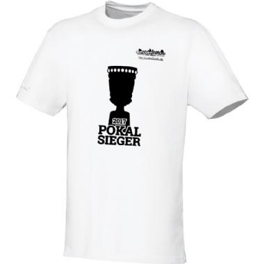 Pokalsieger-Shirts für Kinder, Damen und Herren in weiß