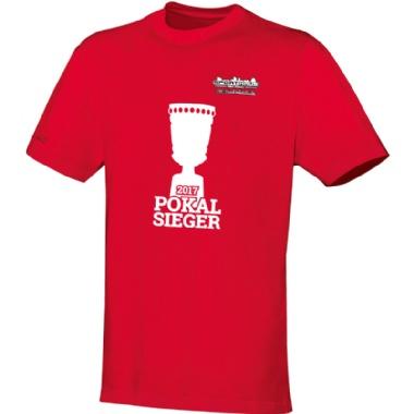 Pokalsieger-Shirts für Kinder, Damen und Herren in rot