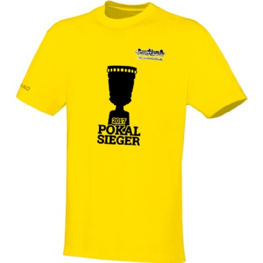 Pokalsieger-Shirts für Kinder, Damen und Herren in gelb