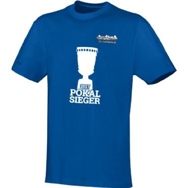 Pokalsieger-Shirts für Kinder, Damen und Herren in blau