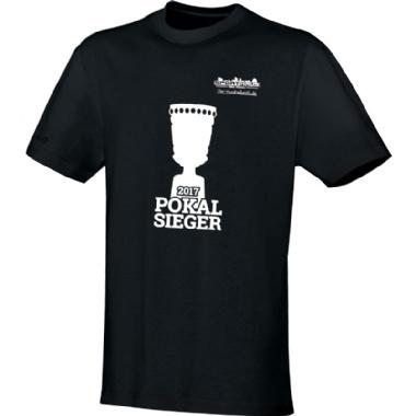 Pokalsieger-Shirts für Kinder, Damen und Herren in schwarz
