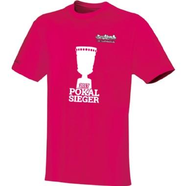 Pokalsieger-Shirts für Kinder, Damen und Herren in pink