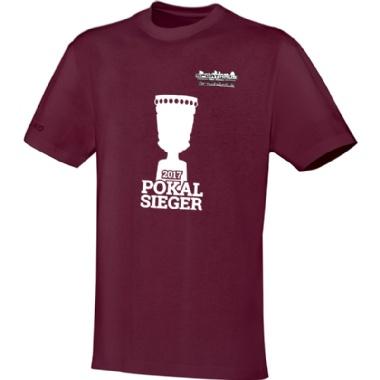 Pokalsieger-Shirts für Kinder, Damen und Herren in weinrot
