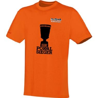 Pokalsieger-Shirts für Kinder, Damen und Herren in orange
