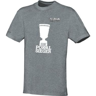 Pokalsieger-Shirts für Kinder, Damen und Herren in grau