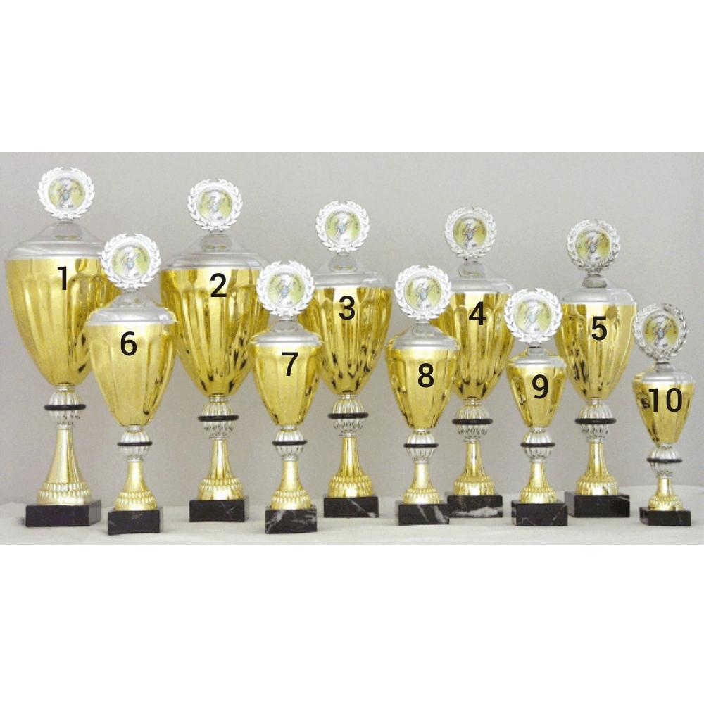 Pokal Mit Deckel In Gold Silber 32 Cm G Nstig Online