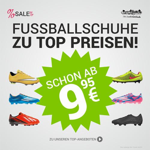 Top Fußballschuhe von Nike, Adidas, Puma und Mizuno zu reduzierten Preisen!