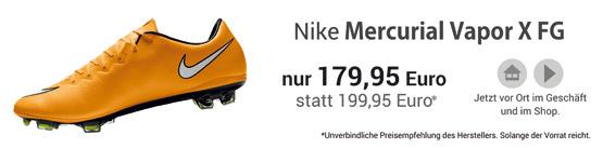 Die neuen Mercurial Vapor X FG Nockenfussballschuhe in gelb - jetzt erh�ltlich!