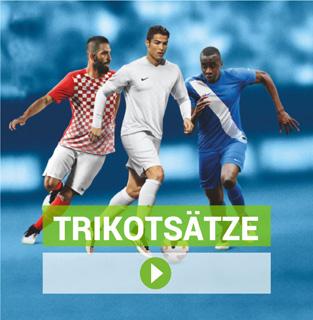 Trikotsätze von Nike, Adidas, Puma, Jako und Stanno