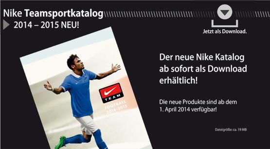 Nike Teamsportkatalog jetzt als Download verf�gbar!