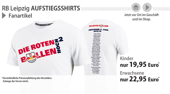 RB Leipzig Aufsteiger-Shirts!