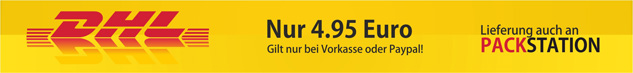 Versandkosten pro Bestellung nur 4,95 Euro