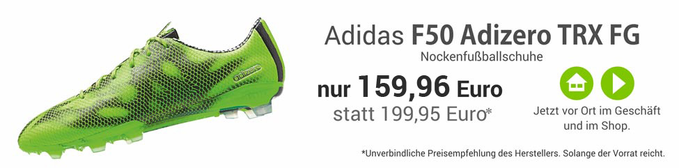 Adidas F50 Adizero TRX FG Nockenfussballschuhe in grün