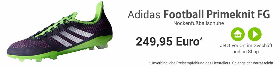 Die Adidas Football Primeknit FG Nockenfussballschuhe B34583
