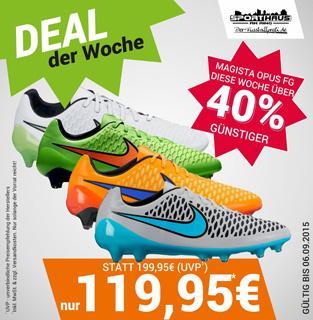 DEAL der Woche - DEAL der Woche - Nike Magista Opus FG bei uns diese Woche nur 119,95 €! - nur bis 06.09.2015