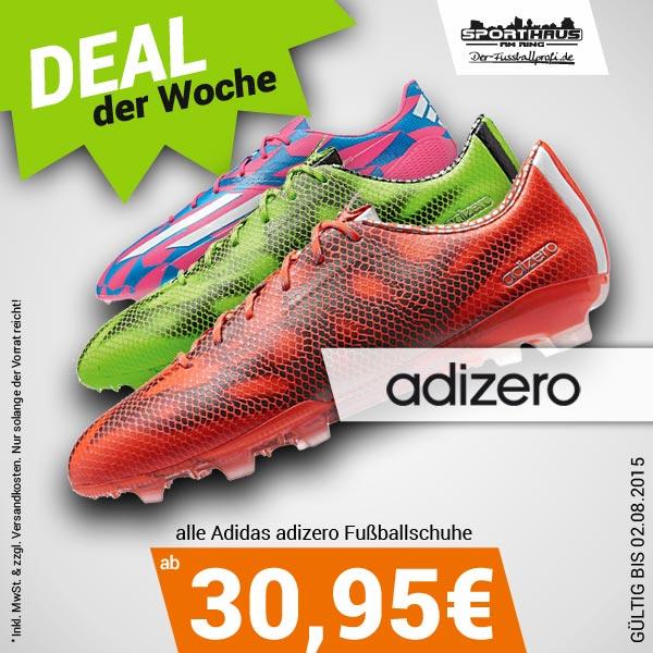 Deal der Woche - Adidas adizero Fußballschuhe zum Schnäppchenpreis - nur bis 02.08.2015