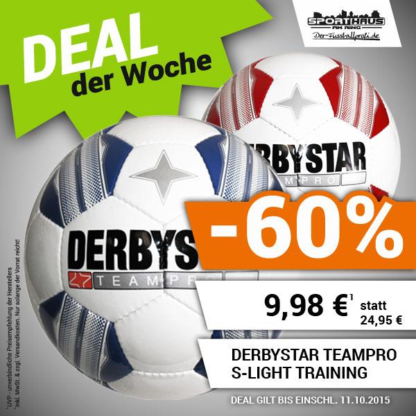 Deal der Woche - Derbystar Trainingsball Teampro Light und S-Light zum Schnäppchenpreis - nur bis 11.10.2015