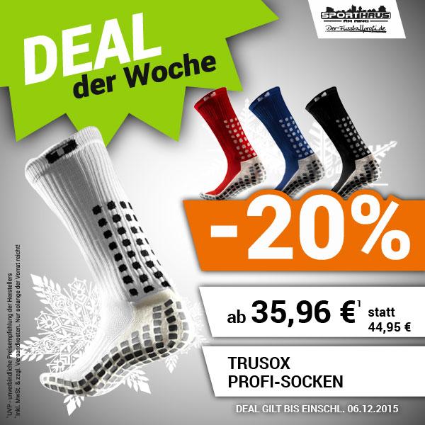 Deal der Woche - Profisocken TruSox - nur bis 06.12.2015