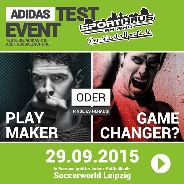 Jetzt anmelden - das große Adidas Testevent am 29.09.2015 in der Soccerworld Leipzig
