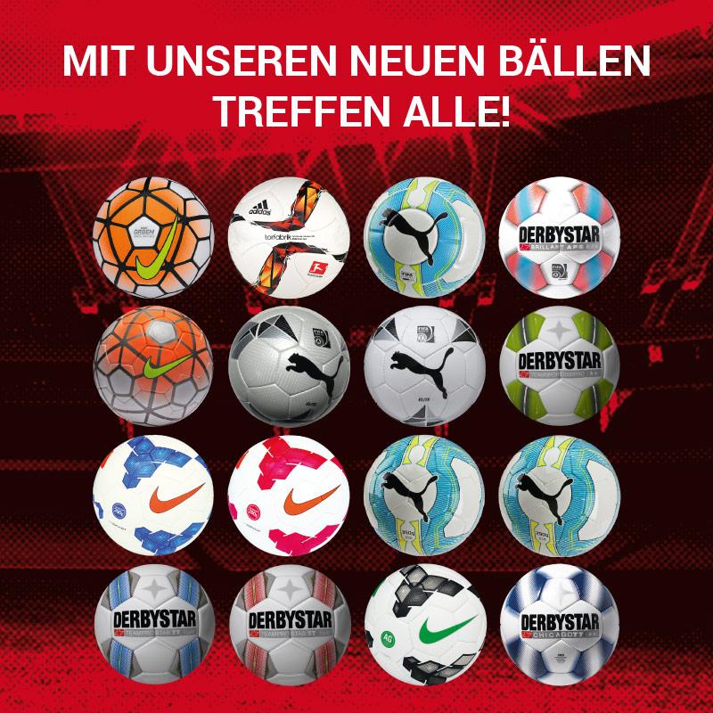 Aktueller Ballflyer - Mit unseren Bällen treffen alle!