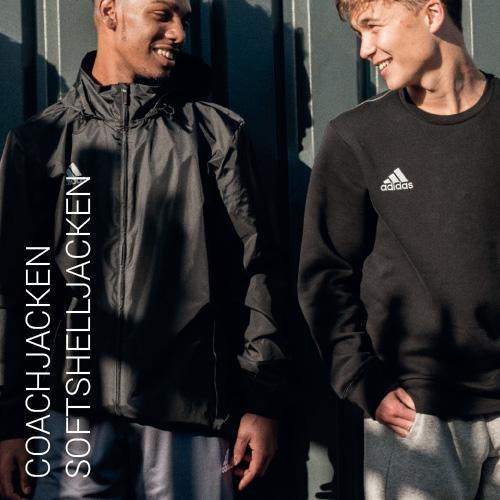 Übersicht Nike, Adidas, Puma und Jako Coachjacken Softshelljacken - Teamwear