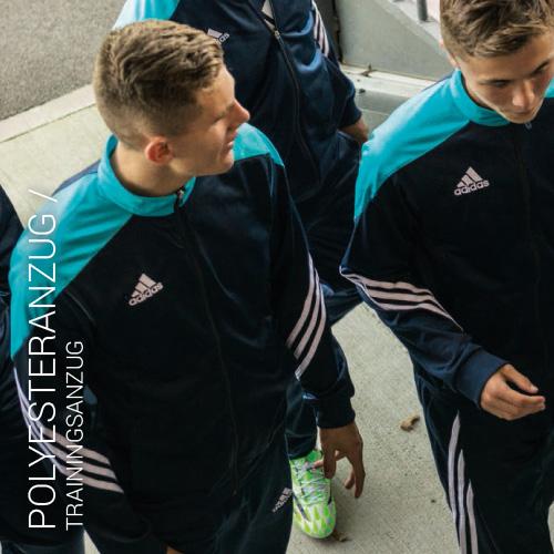 Übersicht Nike und Adidas Polyesteranzug - Teamwear