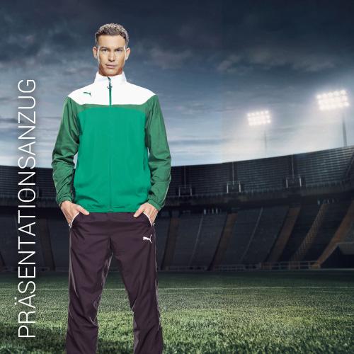 Übersicht Puma und Jako Präsentationsanzug - Teamwear