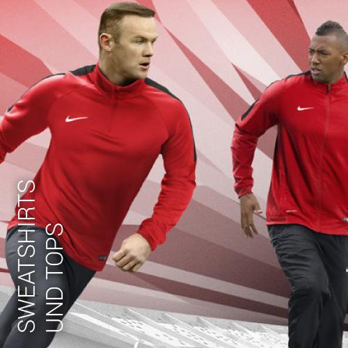 Übersicht Nike und Adidas Sweatshirts und Tops - Teamwear
