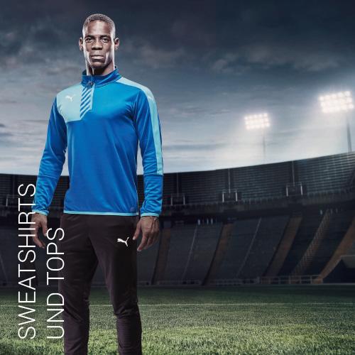 Übersicht Puma und Jako Sweatshirts und Tops - Teamwear