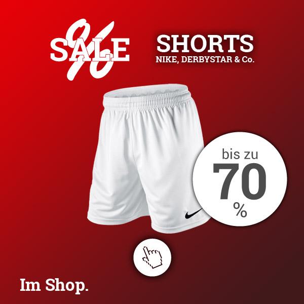 Short Deals - Spare bis zu 70% Rabatt auf Shorts von Nike, Derbystar und Co.