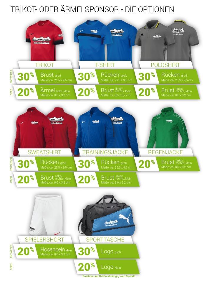 Textildruck - Unsere Sponsoring-Möglickeiten für zum Beispiel Deinen neuen Trikotsatz