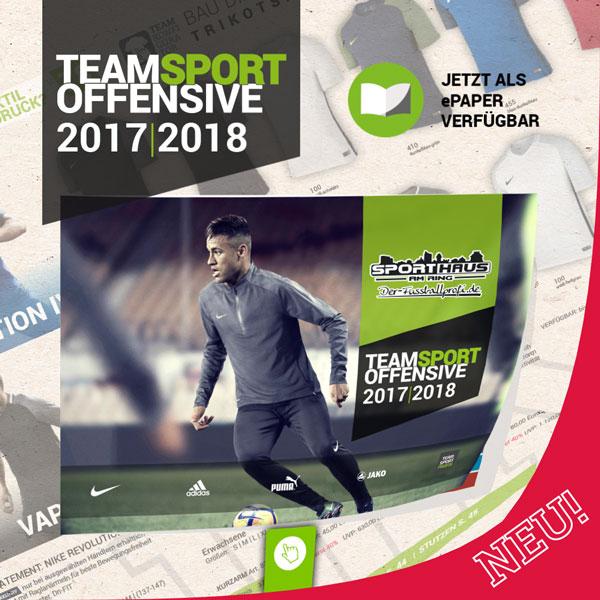Unser Teamsportoffensive Katalog 2017 | 2018 ist online verfügbar!