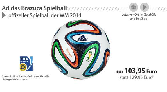Die neuen Adidas Brazuca WM-Bälle