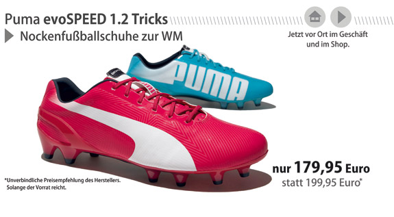 Puma evoSPEED 1.2 Tricks FG zur WM