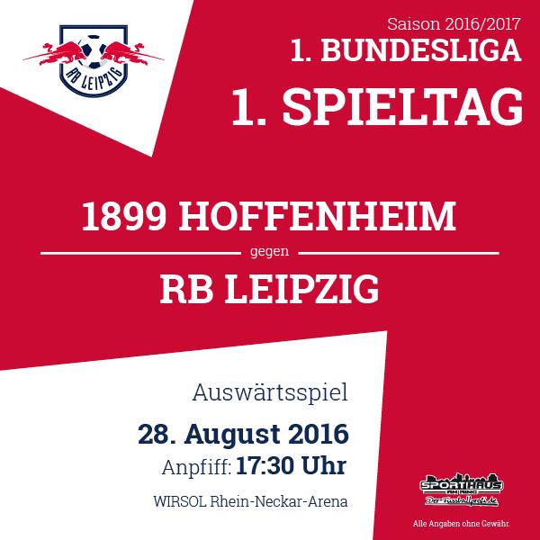 Auf zum nächsten Spiel! RB Leipzig in der ersten Bundesliga!